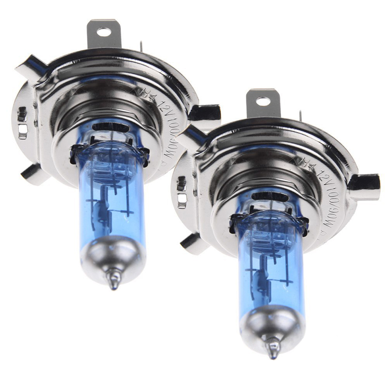 1 pair 12V 55W/60W H4 super bright white Xenon Car Styling light Source Parking Headlight Fog Light Lamp Bulbs