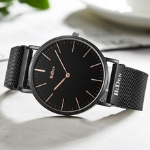 Top Luxury BIDEN Watch Men Unique No Seconds Pointer Dial Quartz Clock Male Trendy Mesh Wrist Stainless Steel Watch Reloj Hombre недорого