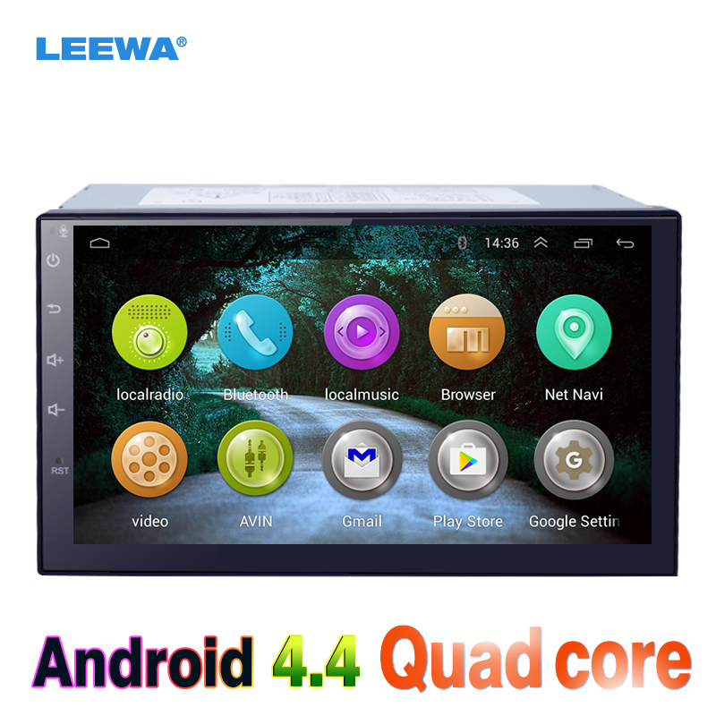 LEEWA 7inch Android 4.4 Quad Core Car Media Player With GPS Navi Radio For Nissan Qashqai/Livina/Navara/Frontier WIFI Bluetoo feeldo 7inch android 4 4 2 quad core car media player with gps navi radio for nissan hyundai universal 2din iso gift am3900