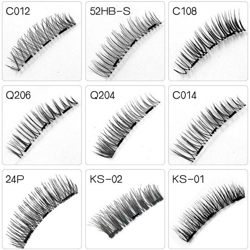 Tesoura de Maquiagem cílios 4 pçs/set handmade 3d Comprimento dos Cílios Postiços : 1 Cm-1, 5 cm