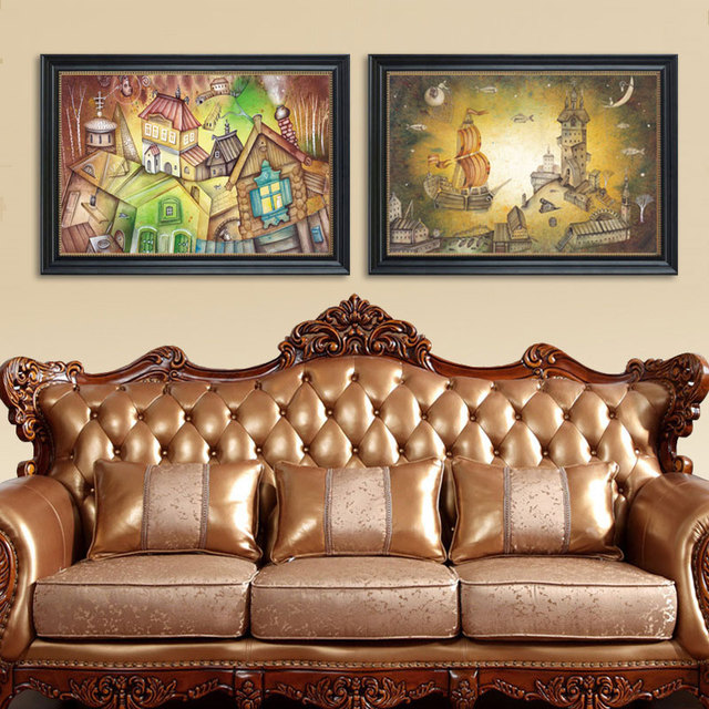 Fantasy City Posters Prints Abstract Fairy Dream Star Wall Art Pictures  Retro Room Home Decor Canvas