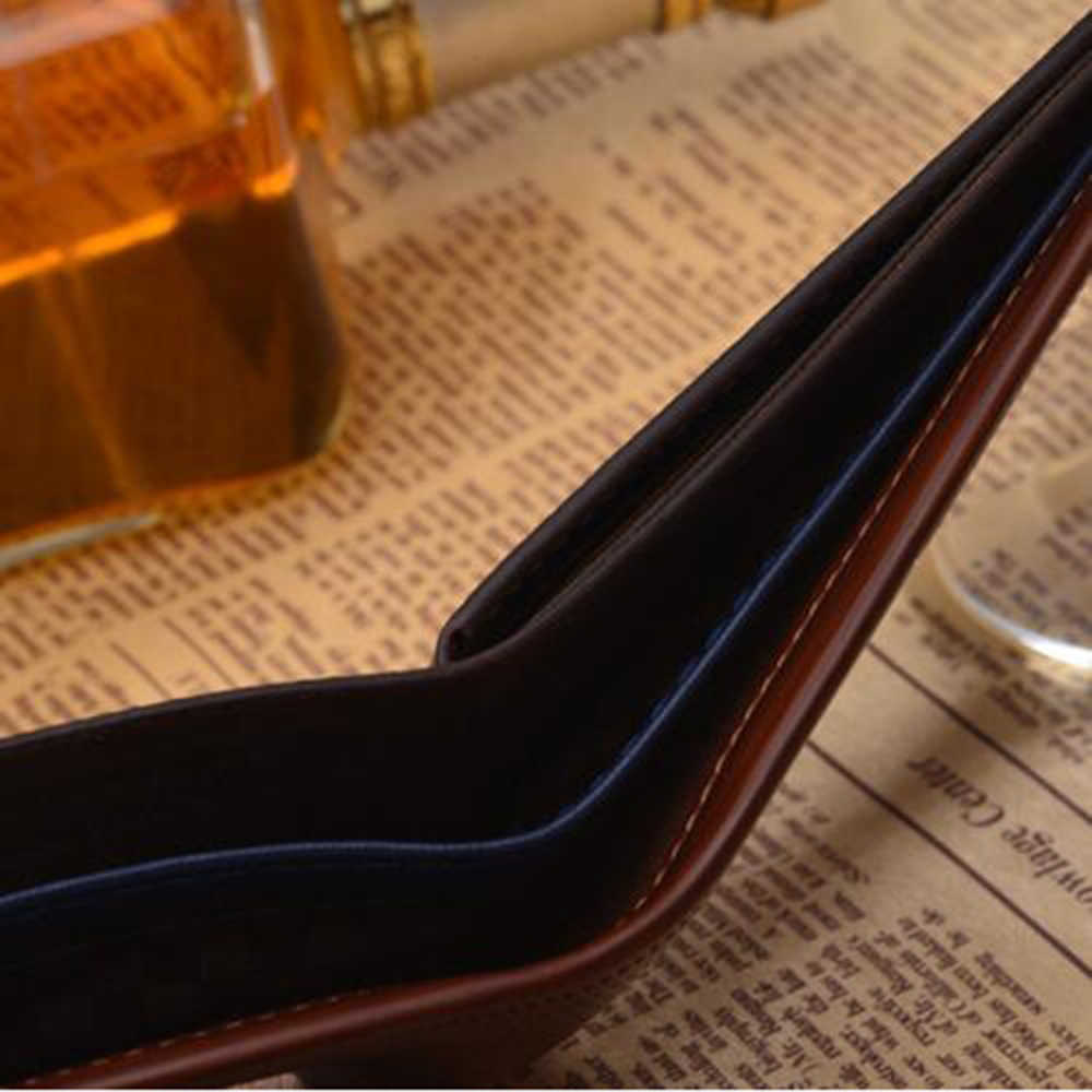 Винтаж Короткие малый кожаный бумажник мужчины дизайнер известный бренд мужской портмоне Walet держатель карты мешок денег Cuzdan Portfel Валле