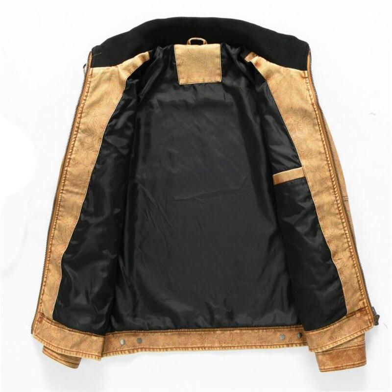 Men s Military Bomber Leather Jackets 2019 New Autumn Winter Thick Warm Tactical Pilot Multi Pocket Men's Military Bomber Leather Jackets 2019 New Autumn Winter Thick Warm Tactical Pilot Multi-Pocket Leather Jacket Coat 4XL 5XL