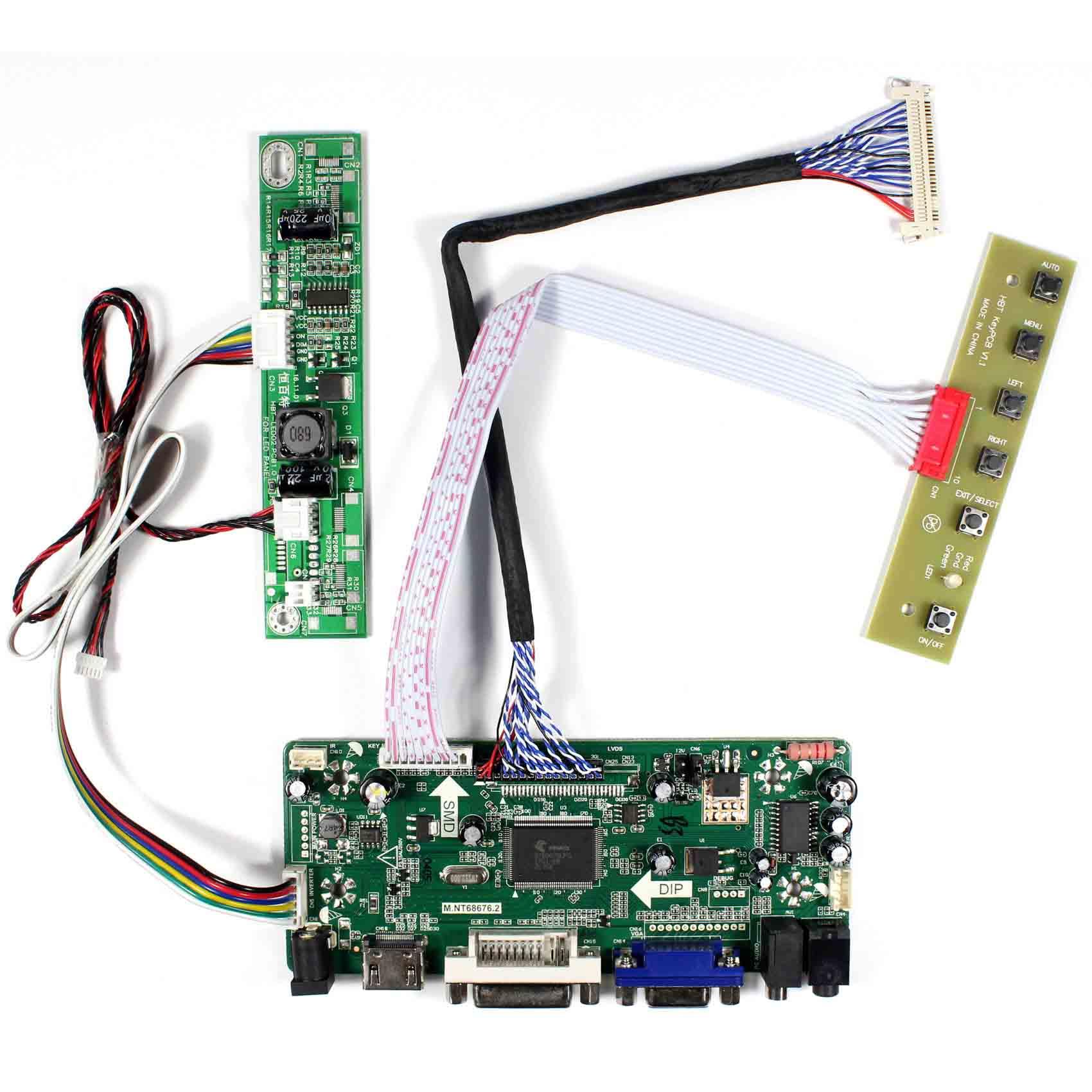 HDMI DVI VGA Audio LCD Control Board For 21 5inch M215HW03 V1 V2 M215HGE L23 T215HVN01