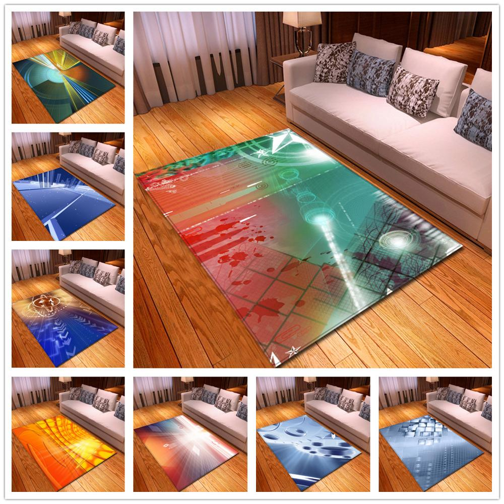 New Nordic 3D Geometric Pattern Carpets for Living Room Bedroom Area Rugs Parlor Coffee Table Mat Soft Flannel Large Size Carpet(China)