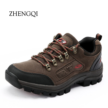 warm autumn out side mens shoes walking nubuck leather waterproof massage camp hard wearing shoes man casual trekking shoes