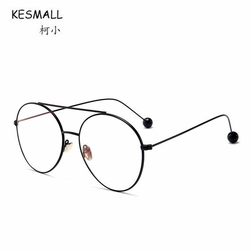 KESMALL Neue Trendy Myopiebrillen Rahmen Frauen Rund Geformte Klarem ...