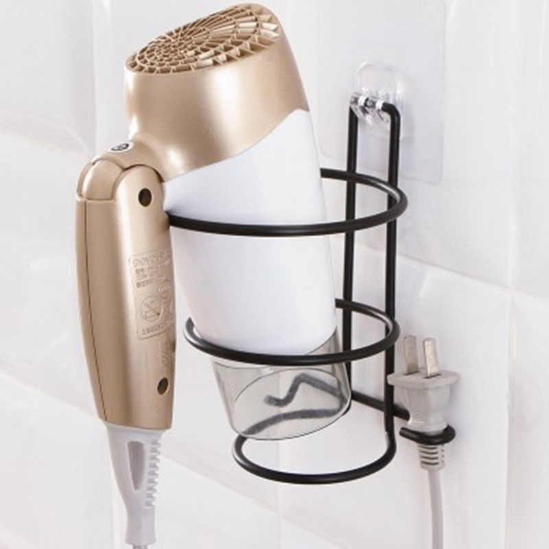 Чугун настенная сушилка для волос без сверления подставка для ванной комнаты в отеле полка для хранения Фен Вешалка-держатель 1 шт.