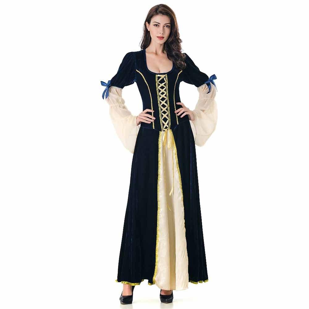 2018 Winter Halloween Fashion Beauty Period Vintage Women
