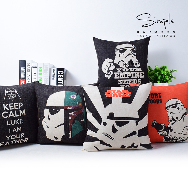 Sensational Us 4 54 35 Off Star Wars Cushion Covers Troopers Darth Vader Cushion Cover Decorative Linen Pillow Case For Car Sofa Chair Seat In Cushion Cover Creativecarmelina Interior Chair Design Creativecarmelinacom