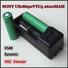 100% REAL para SONY US18650 VTC5 2600 mah 35AH 3.6 V 3.7 V Exigível Dinâmico Li Lithium-ion Recarregável Célula de bateria