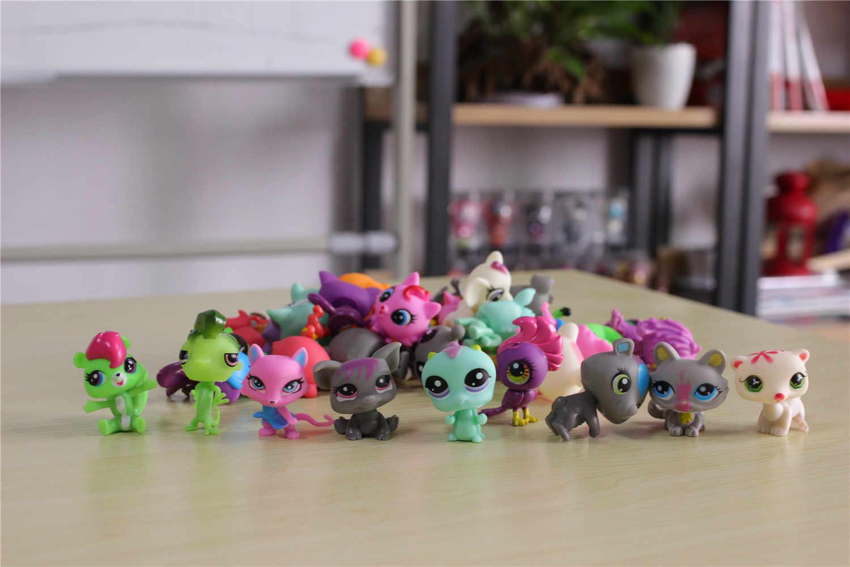 Saco Do Brinquedo 32 Pçs/saco lps LPS Novo Estilo Pouco Pet Shop Mini Brinquedo Animal Gato patrulla canina cão Figuras de Ação Crianças brinquedos