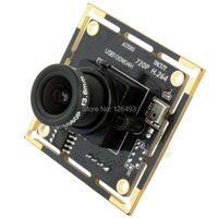 Free shipping 5 pieces 1.0 megapixel 720p OV9712 3.6mm lens micro usb 2.0 pc board H.264 camera module usb with microphone