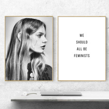 Fashion Girl Feminism Quotes Nordic Posters And Prints Wall Art Canvas Painting Salon Poster Pictures For Living Room Decor