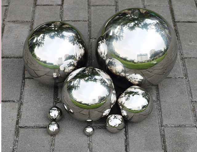 1 pcs 200mm en acier Inoxydable creux décoration balle boule de ...