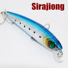 1Pcs Box Floating Fishing Lure Minnow Crankbaits Hard Bait ABS Plastic 5g 71mm Japan BKK Hook Freshwater Fishing Tackle Wobblers