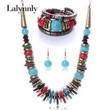 Colorido Turquesa de La Manera Joyería de la Turquesa Collar Pulsera N25821 Eearring Establece para Las Mujeres Al Por Mayor