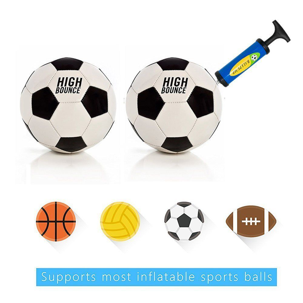 2PCS Ball Pump with 12 Needles 4 Nozzles for Basketball Volleyball Rugby Balloons Football-Blue Green QKURT Inflator Ball Pump Set