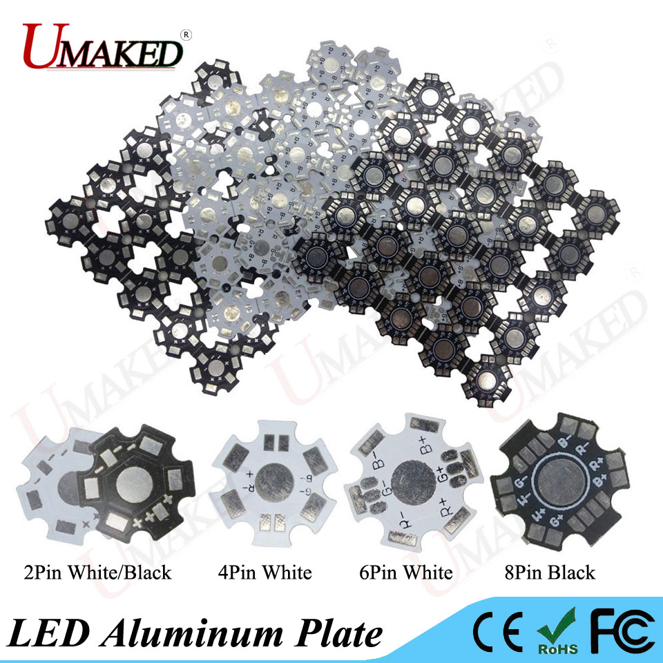 LED Heat Sink Aluminum Base Plate PCB Board Substrate 20mm Star RGB RGBW DIY Cooling Heatsink for 1 3 5 W Watt High Power LEDs