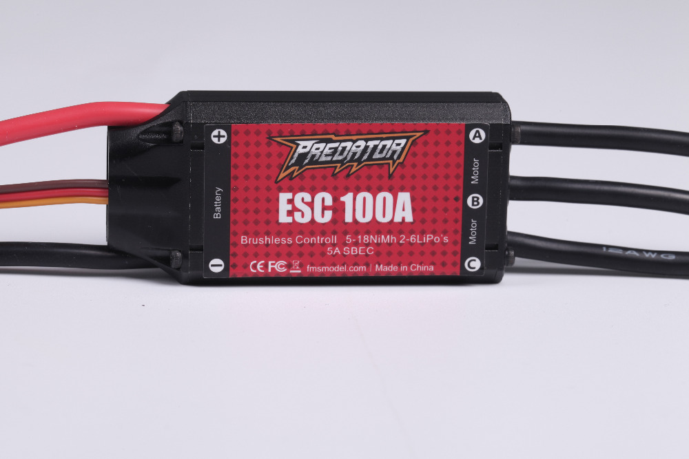 Predator ESC 100A with 8A SBEC Speed Controller Brushless Support 2s - 4S - 6S for RC Airplane Model Plane Spare Part ypg 60a esc brushless speed controller 2 6s sbec for rc helicopter airplane
