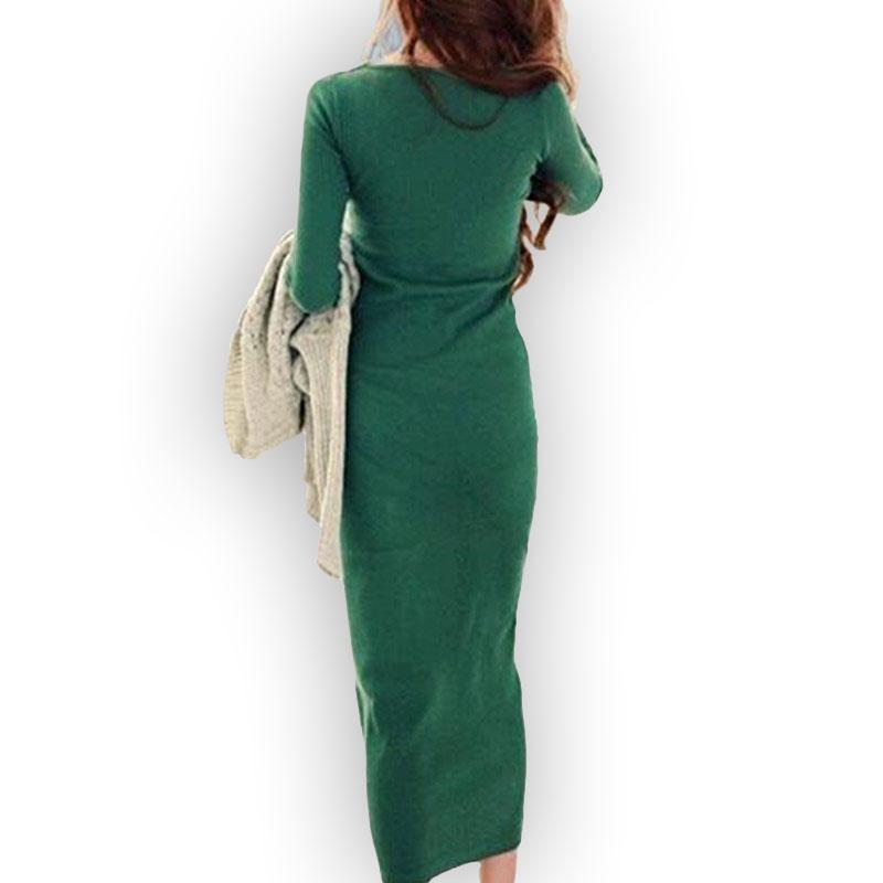 New 2018 Large Size XXXL Casual maxi Dress Vestidos Winter Women Sweater long robe sexy Dress Female ukraine vestido de festa