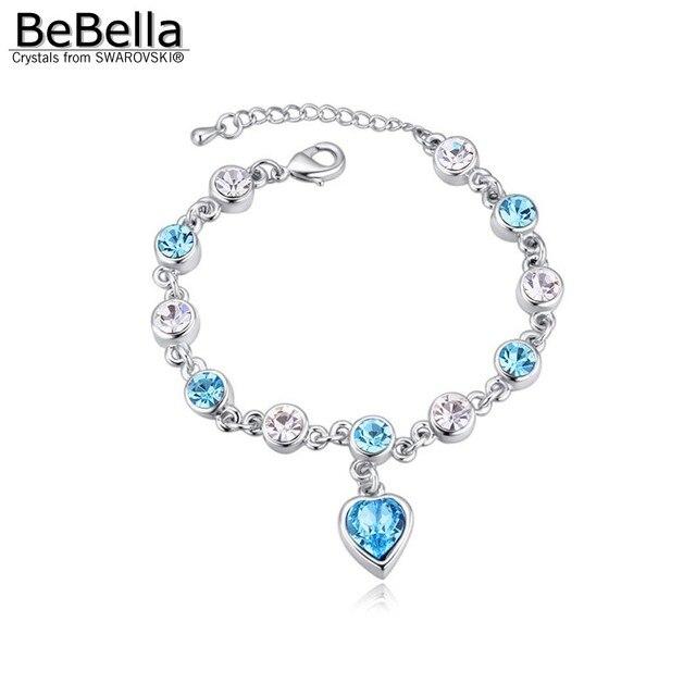 BeBella Heart Crystal Charm...
