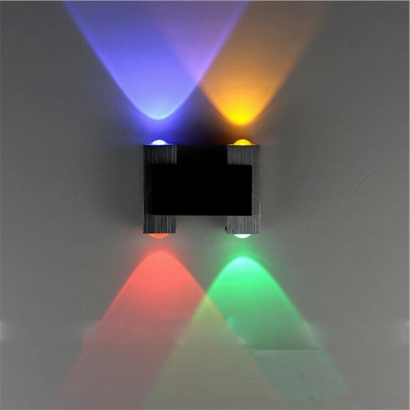 (WECUS) Direct sales model universal aluminum led wall lamp wall lamp telescope AC90-265V 4W 4 heads