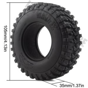 Image 3 - Pneus en caoutchouc de 1.9 pouces 105x35mm, ensemble de 4 pièces, pneus de voiture pour camion à chenilles RC 1/10, vodoo KLR Axial SCX10 90046 90047 AXI03007 RC