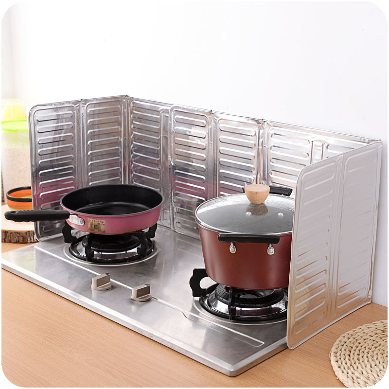 Kitchen Gas Stove Taiwan Baffle Plate Aluminum Foil Insulation Board Insulation Oil Proof 33*84cm Cooking Grease Splash Baffle