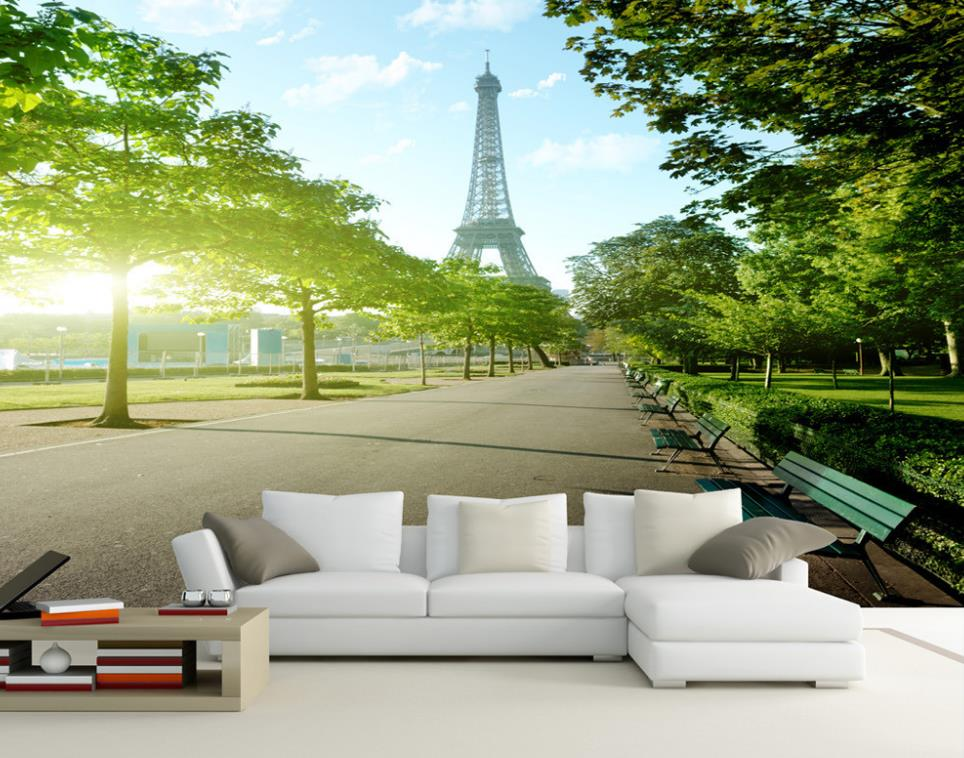 3D Wallpaper Custom Any Size Mural Wallpaper Paris Eiffel Tower Street View TV Backdrop Bedroom Photo Wall Paper 3D book knowledge power channel creative 3d large mural wallpaper 3d bedroom living room tv backdrop painting wallpaper