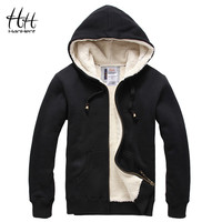 HanHent Sheep Velvet Thickened Men Winter Coats Thick Wool Warm Hoodie Sweatshirts Fashion Men Clothing Cashmere Clearance Sale