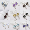 Silver Earrings, LABRADORITE & Other Gem stones Variation CLICK TO SEE MORE
