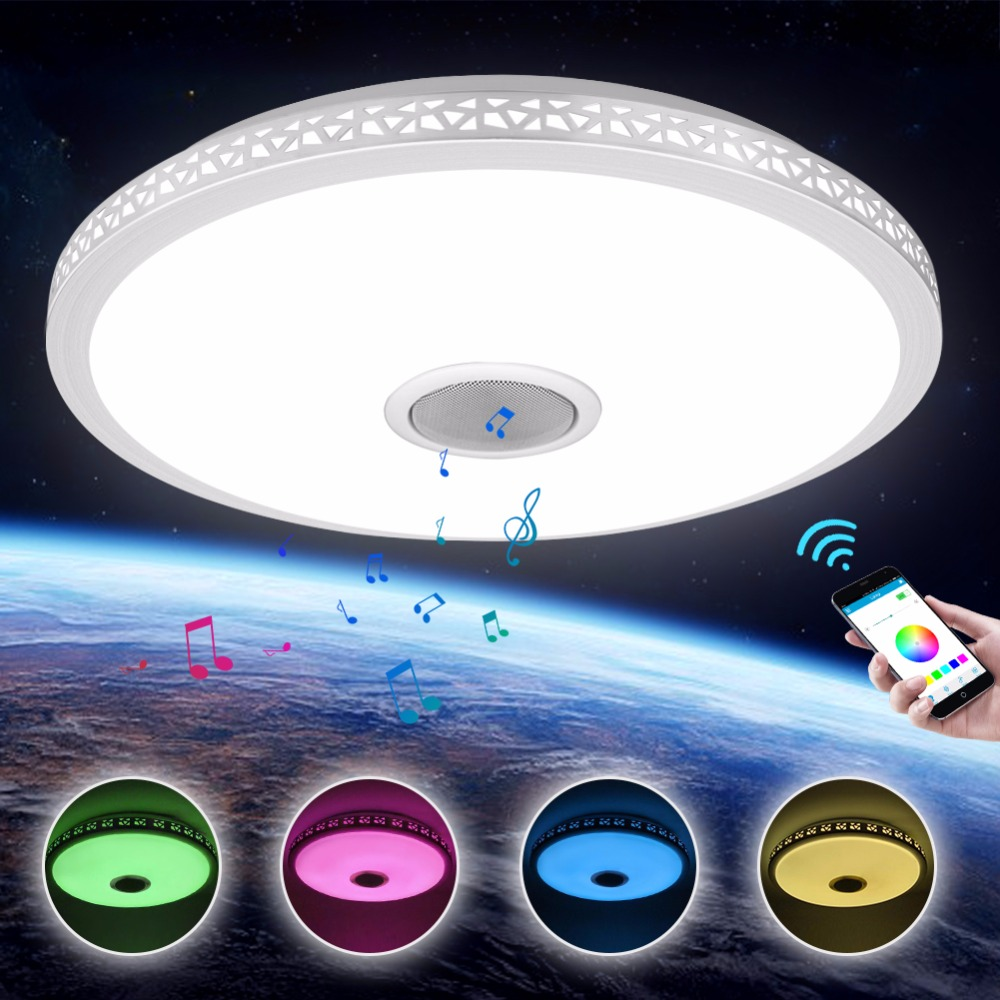 LED Ceiling Light Bluetooth And Music With Colourful And Dimmer RGB Ceiling Light Remote Control For Living Room And Bedroom