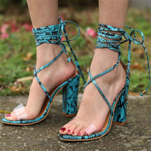 2019 High Heels Sandals Women Pumps PVC Transparent Fashion Shoe Casual Waterproof Sandalia Feminina WFQ88