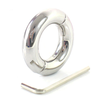 New Stainless Steel 30 33mm Inner Diameter Penis Ring Scrotum Bondage Ball Stretcher Cockring Testicle Weight