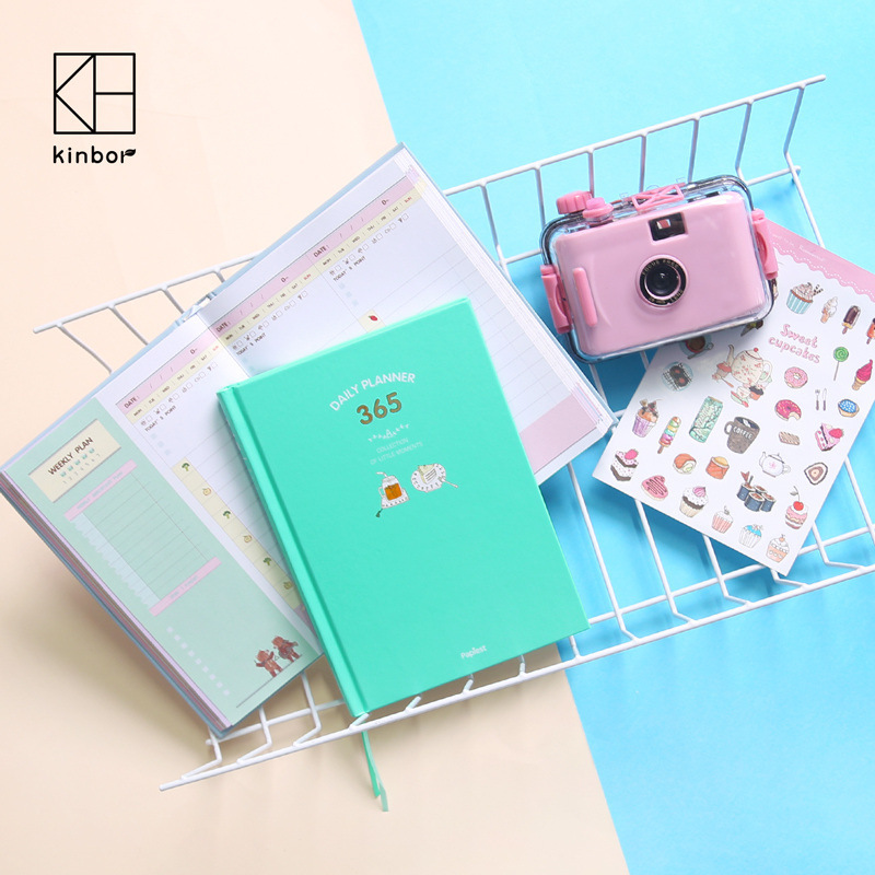 Creative Cute Student Daily Plan Notebook Office School Schedule Stationery Planner Organizer Study List Noted Agenda Diary
