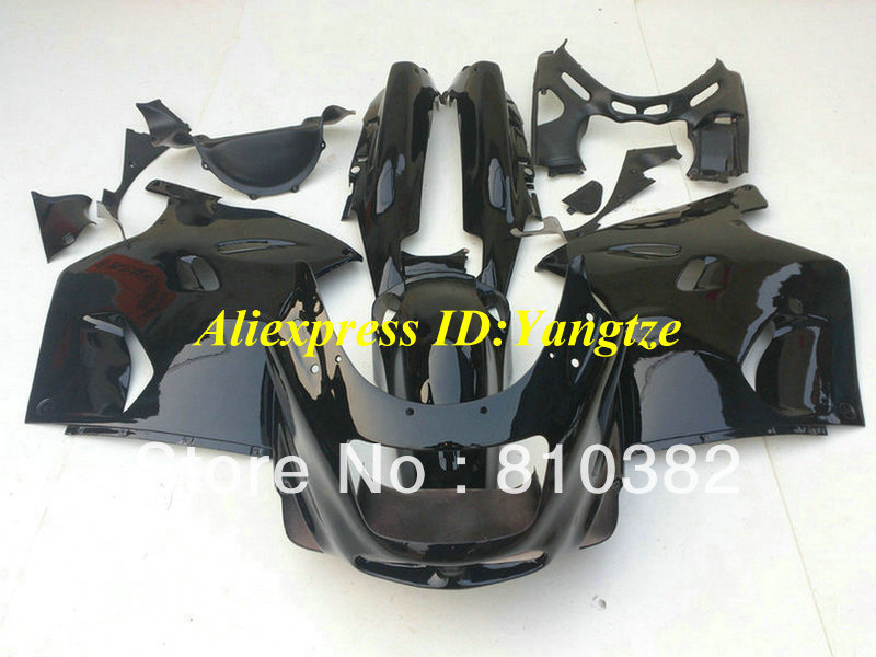ABS Fairing kit 1993 2003 KAWASAKI Ninja ZZR1100 93-03 ZZR 1100 1993-2003 ZX-11 ZZR1100D gloss black fairings bodywork - FAIRING KIT Co. Ltd store