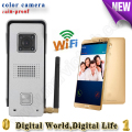 video door phone remote controlled remote door intercom IOS Android available wifi doorbell with video recording
