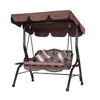Outdoor Swing Canopy Sunshade Park Seat Garden Waterproof Dust Cover|Sun Shelter| |  -