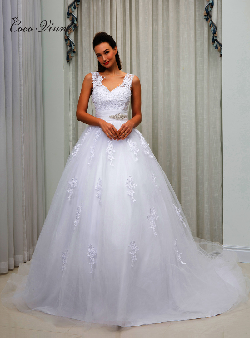 c v american and european simple brief ball gown wedding dress 2018
