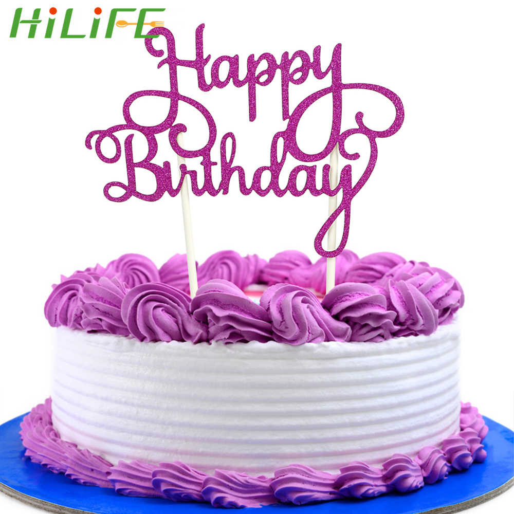 Outstanding Hilife Double Stick Happy Birthday Cake Flags Cake Tools For Funny Birthday Cards Online Alyptdamsfinfo