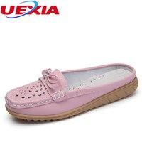 בתוספת עור גודל נשים femmes sandales נעלי קיץ נעלי sandalias למעלה איכות טריז דירות של אשת כפכפים שקופיות femmes
