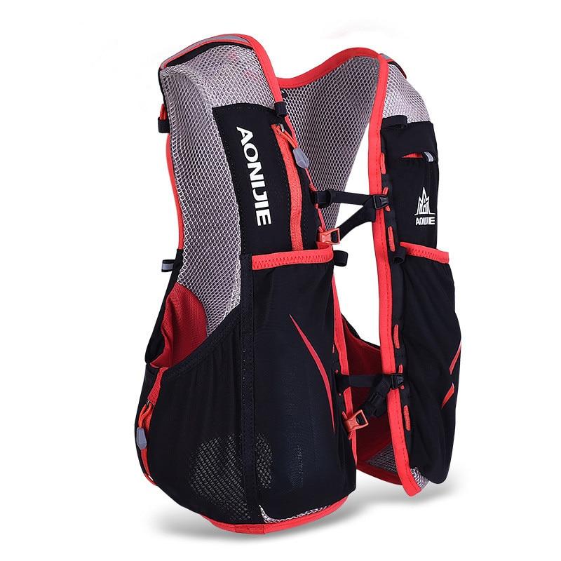 все цены на AONIJIE 5L Outdoor Running Bag Marathon Hydration Vest Backpack Lightweight Hiking Cycling Riding Vest Bag Women Men S M L XL онлайн