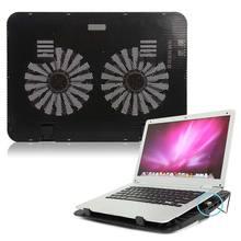 Охлаждающая подставка для ноутбука с питанием от USB, два вентилятора для 15,6 дюймового ноутбука EM88