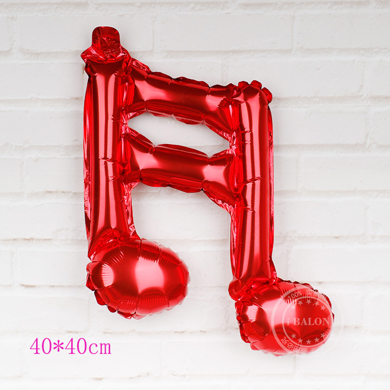 Music Notes for Party Pink Foil Balloon