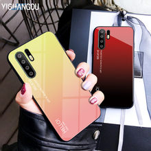 Luxury Gradient Glass Phone Case For Huawei P30 Pro P20 Lite Mate 20 10 NOVA 4 3 3i P Smart Y7 Pro 2019 Honor V20 8X Enjoy 9 7s(China)