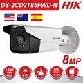 <font><b>HIKvision</b></font> 8MP IP Камера 4K на открытом воздухе DS-2CD2T85FWD-I8 8 мегапиксельная сетевой безопасности Пуля IP Камера s PoE Встроенный слот для SD карты