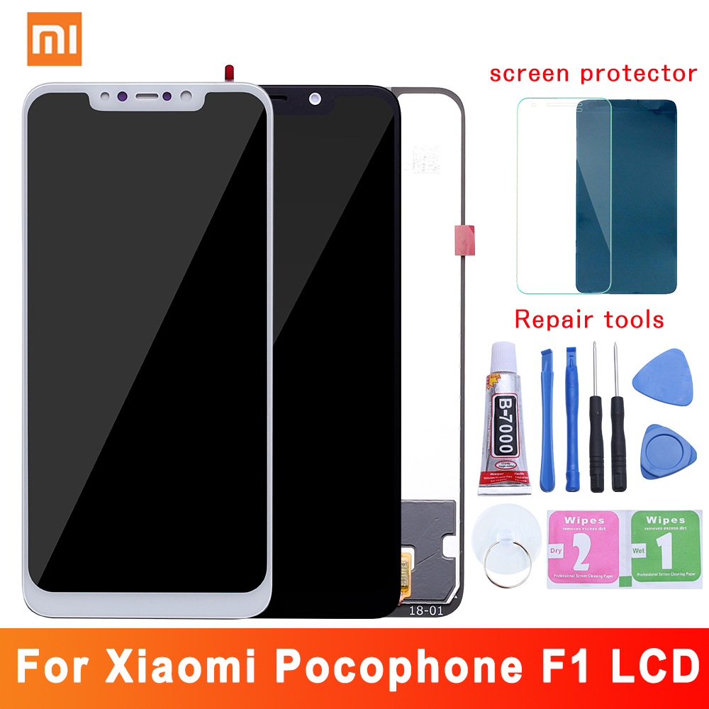 2018 Original New For Xiaomi Pocophone F1 LCD Display Touch Screen Digitizer Assembly For Xiaomi Pocophone F1 LCD Screen Replace