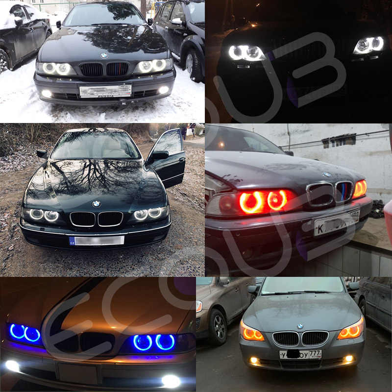 LED Angel Eyes voor BMW E39 E60 E53 X5 E83 X3 E61 E63 E64 E65 E66 E87 BMW LED Side marker Gloeilamp Canbus Wit Blauw Rood Geel
