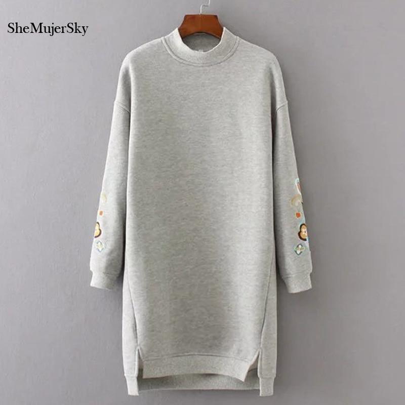 SheMujerSky Sweatshirt Women Long Hoodies
